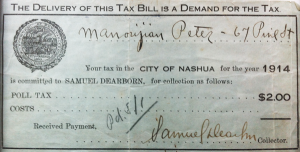 Peter Manoogian's Poll Tax